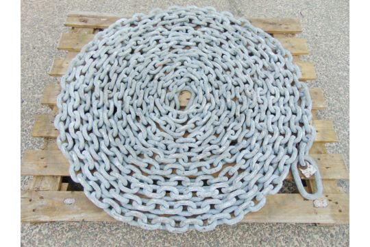 You are bidding on a 20m Galvanised Mooring Chain Assy  This