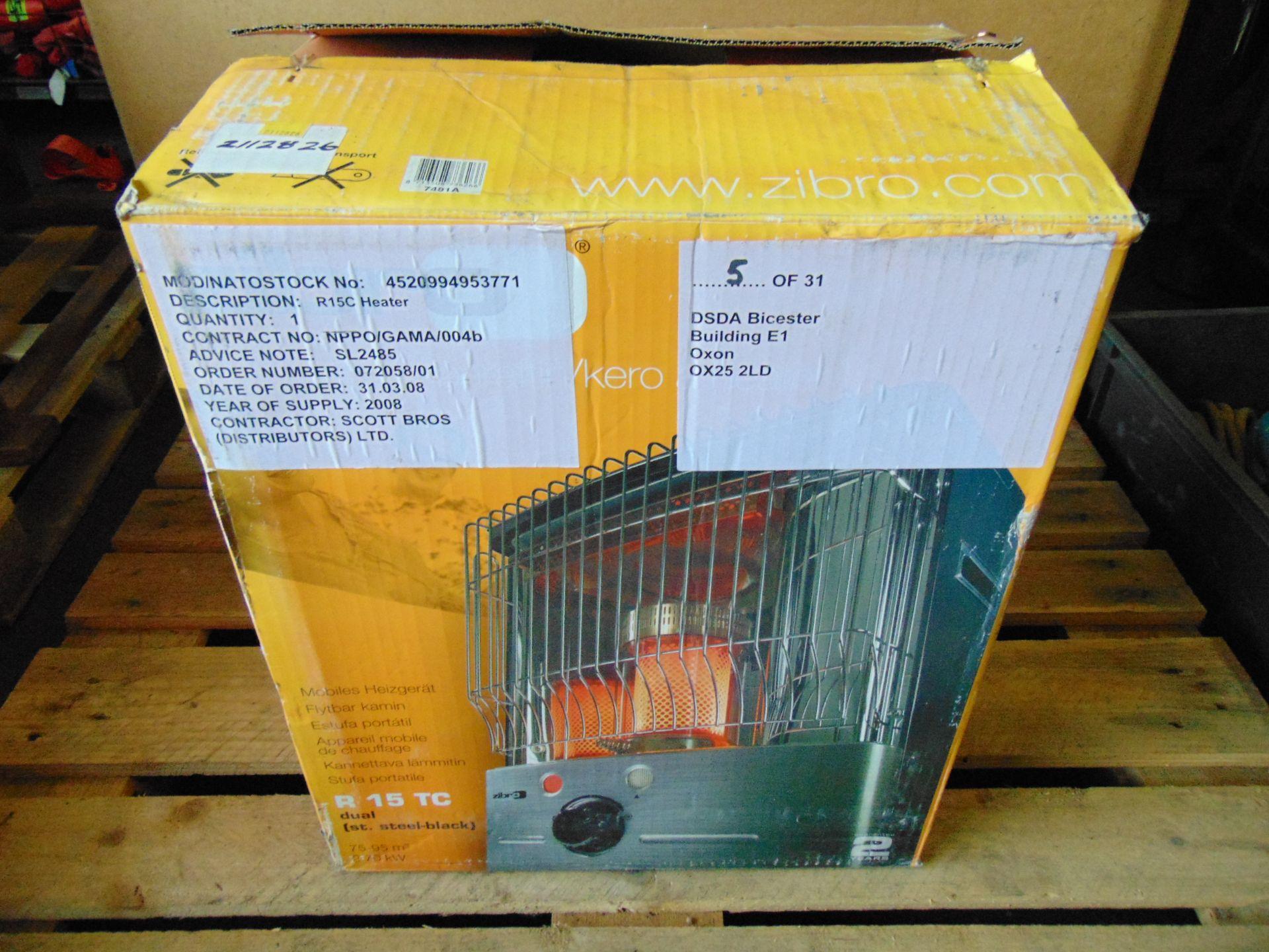Lot 26846 - Zibro R15 TC Military MoD Portable Paraffin Heater Workshop, Shed, Garage, Greenhouse