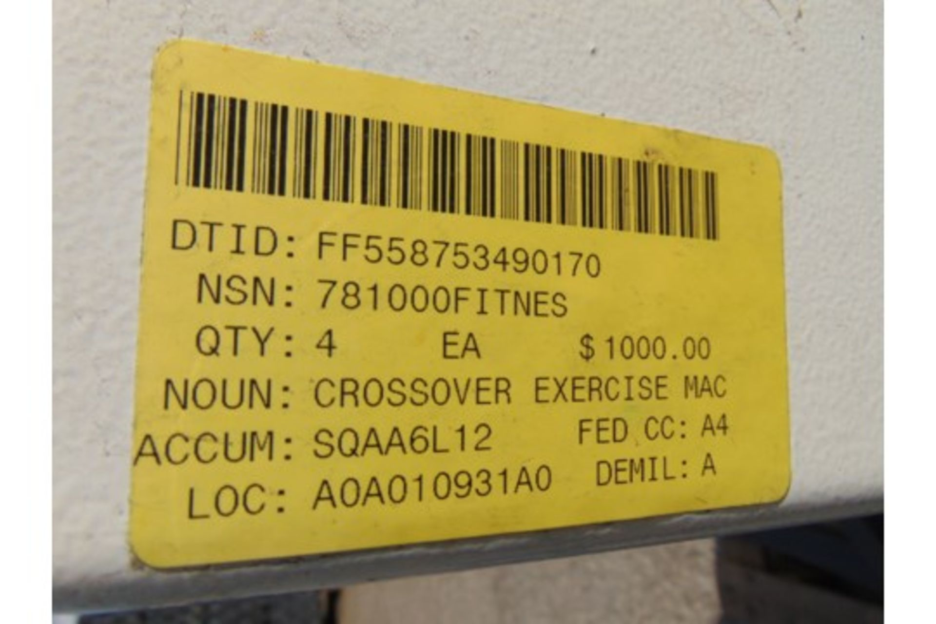 Lot 25830 - Cybex Cable Crossover Exercise Machine