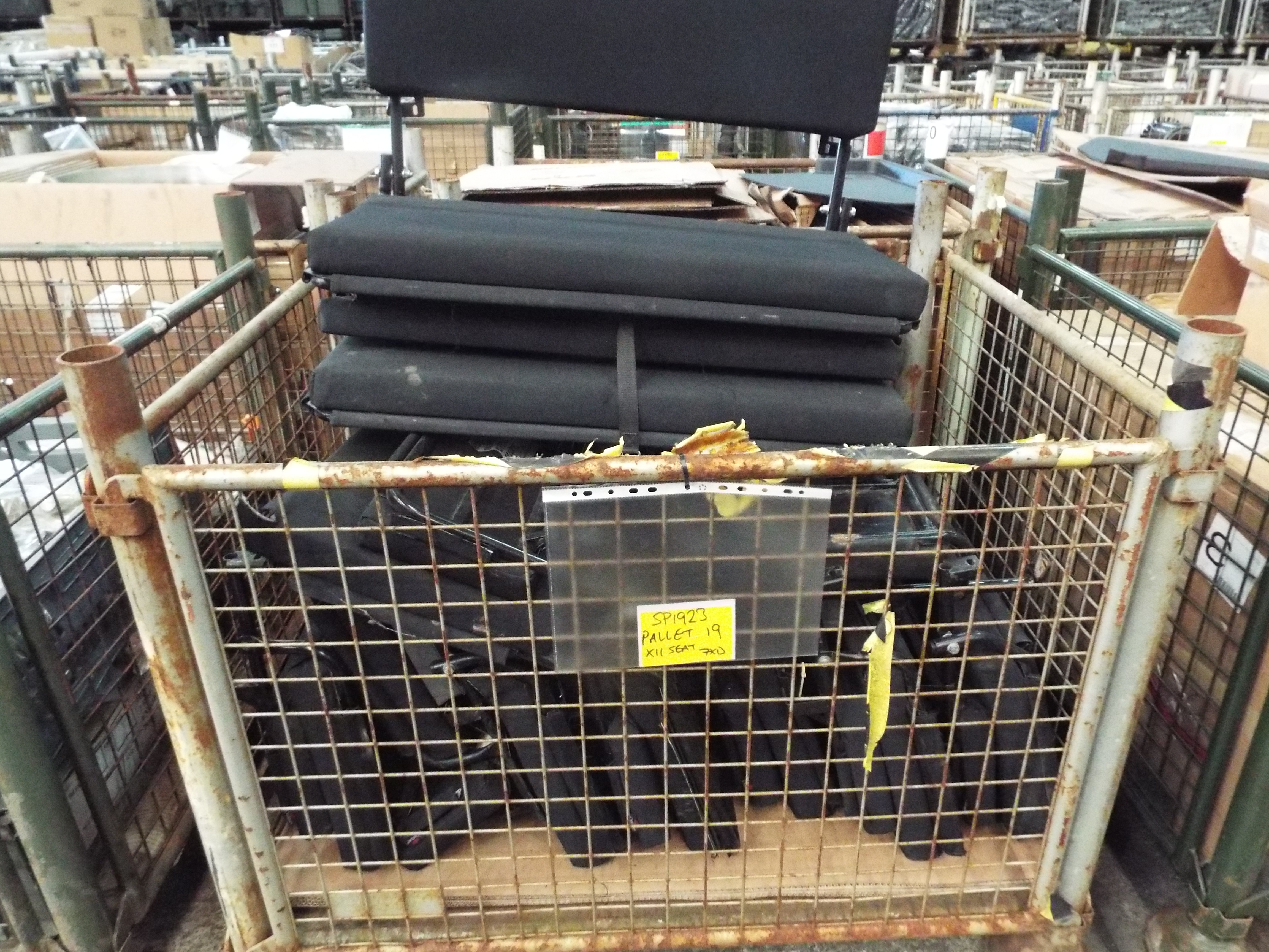 Lot 13600 - 11 x Land Rover Wolf Bench Seats