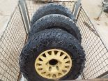 Lot 13614 - 3 x WMIK Rims complete with Cooper STT LT265/75 R16 Tyres