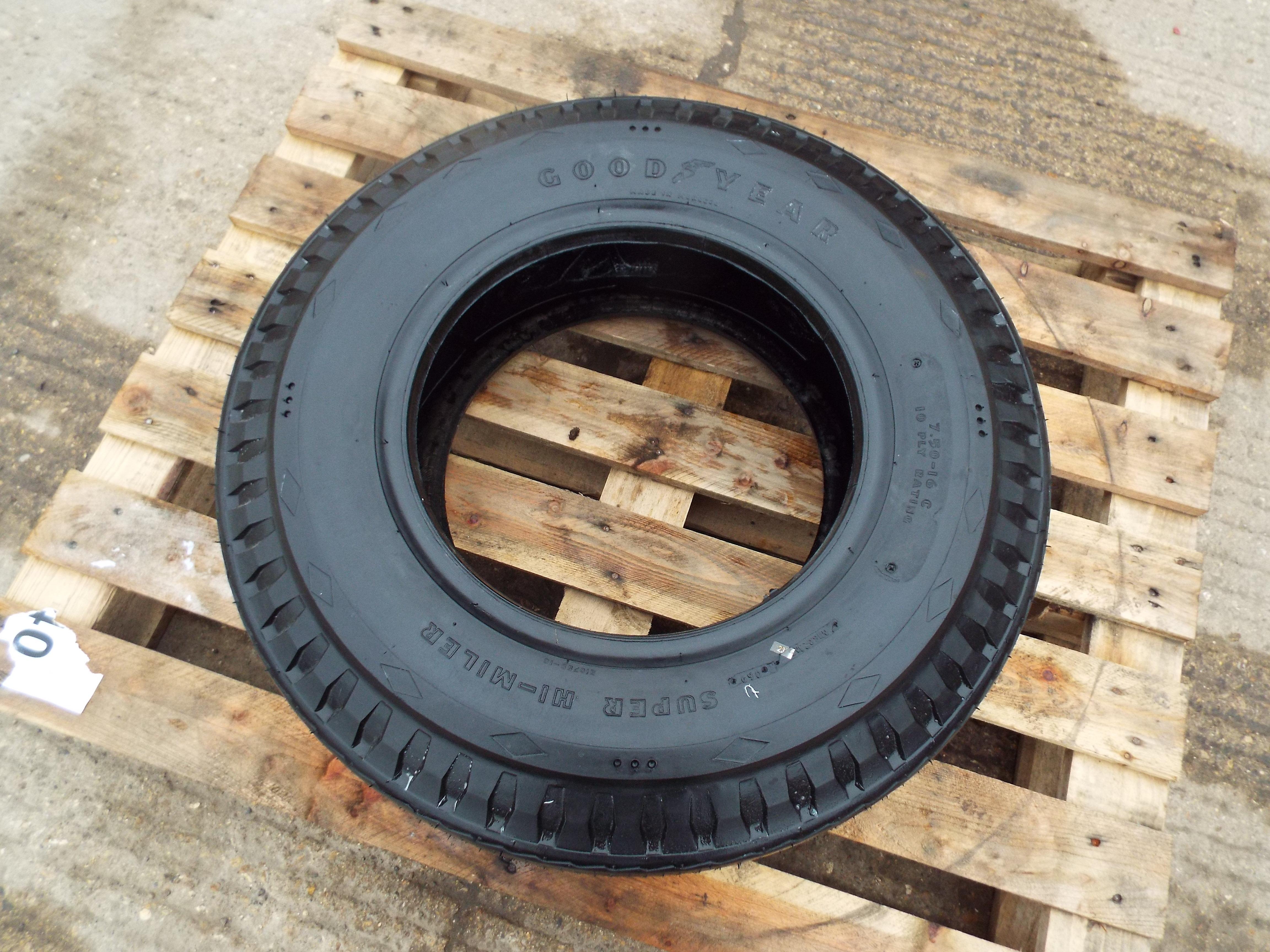 Lot 13616 - Goodyear Super Hi Miler 7.50-16C Tyre