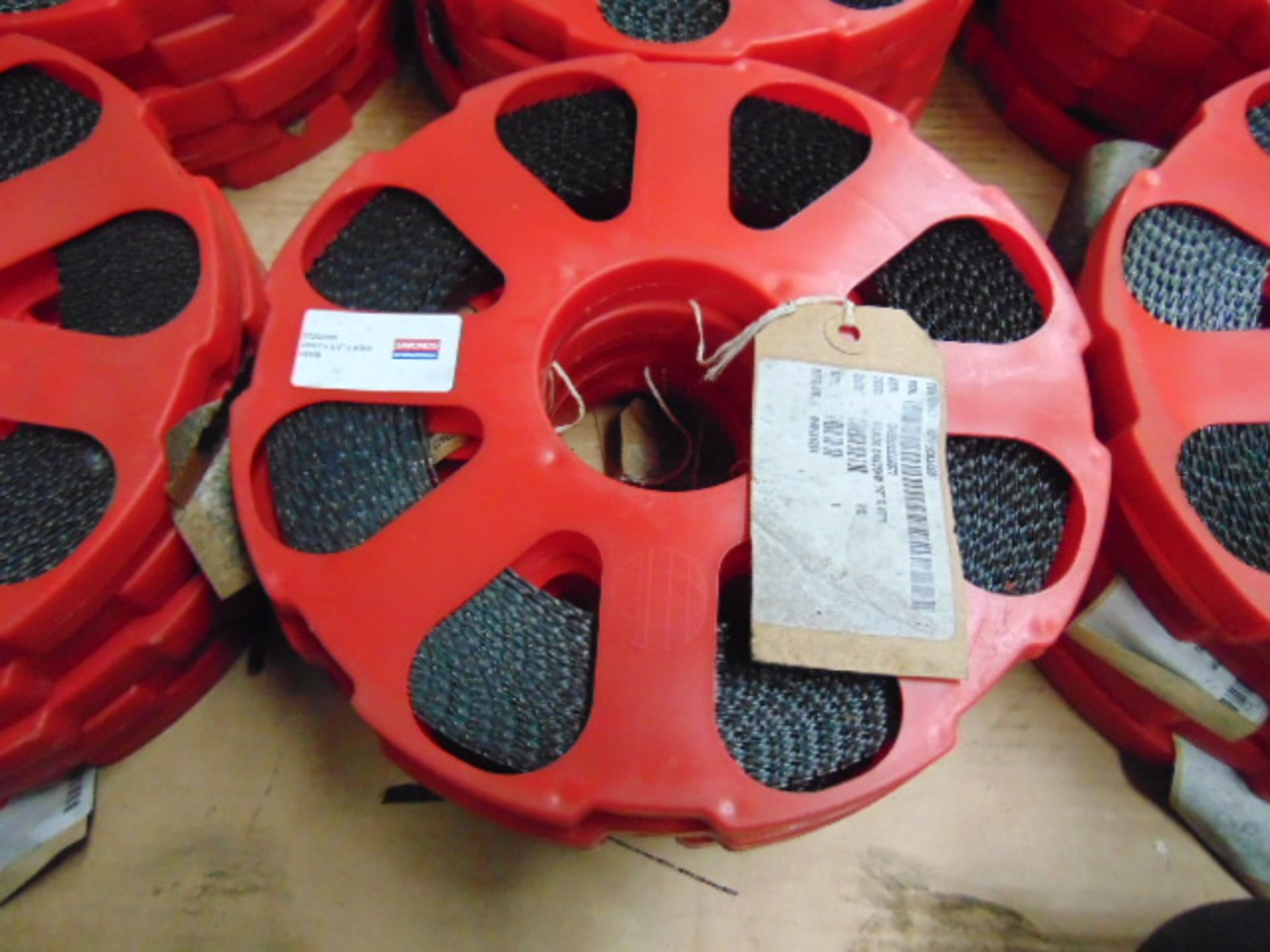 "Lot 24490 - 30 x Simmonds 100ft 1/2"" x 4 Skip Band Saw Blade Coils"