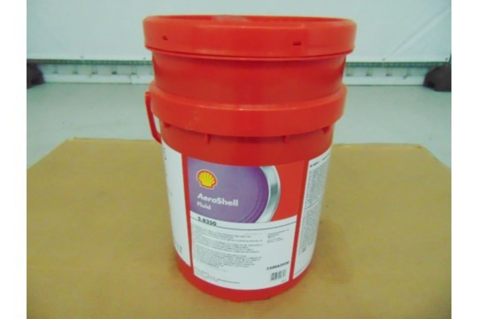 Lot 26608 - 1 x Unissued 20L Drum of Aeroshell S.8350 Helicopter Lubricating Oil