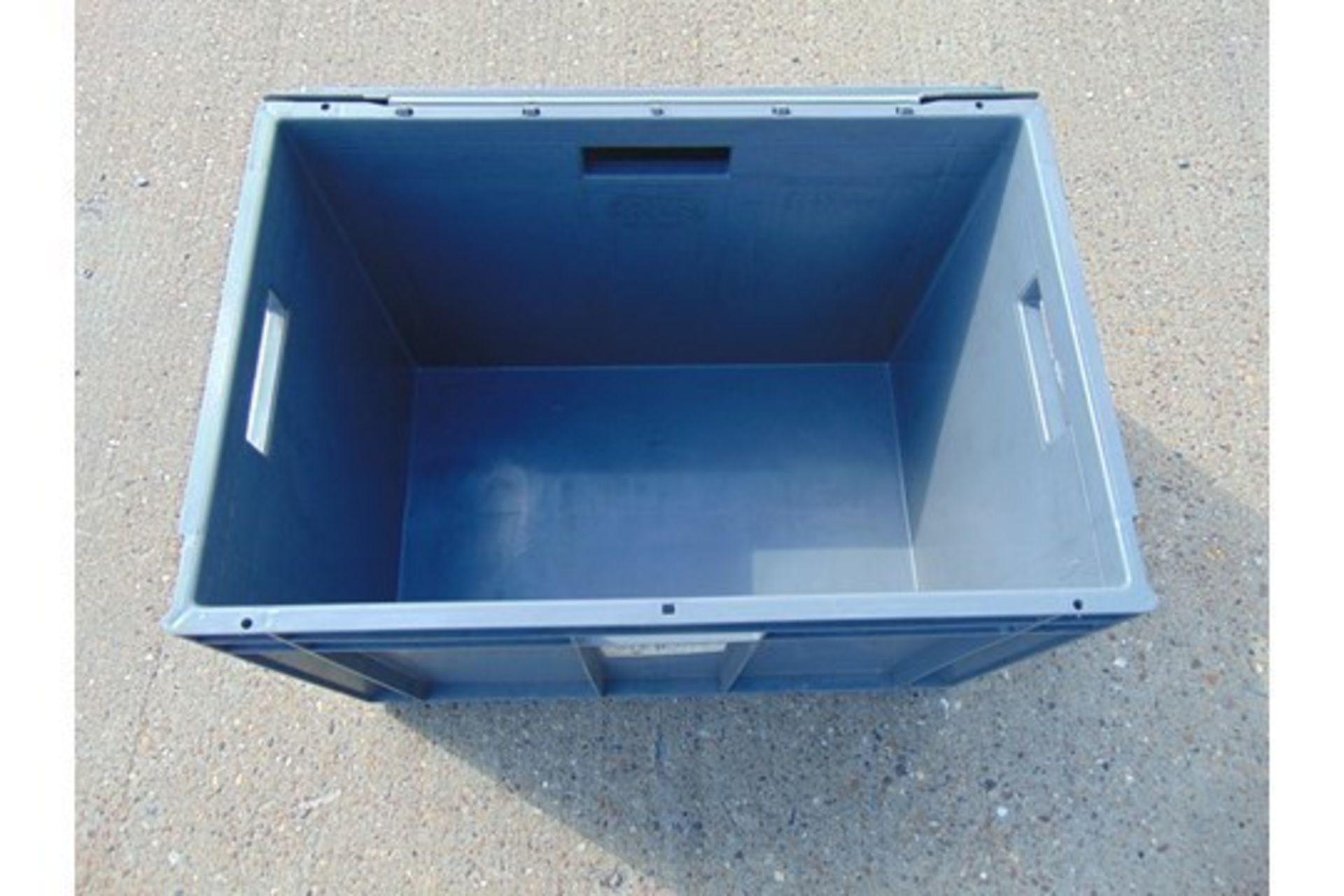 Lot 25840 - 10 x Standard MoD Stackable Storage Boxes c/w Lids