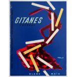 Advertising Poster Gitanes Caporal Cigarettes Villemot