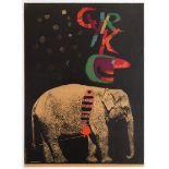 Advertising Polish Circus poster – Cyrk, Elephant