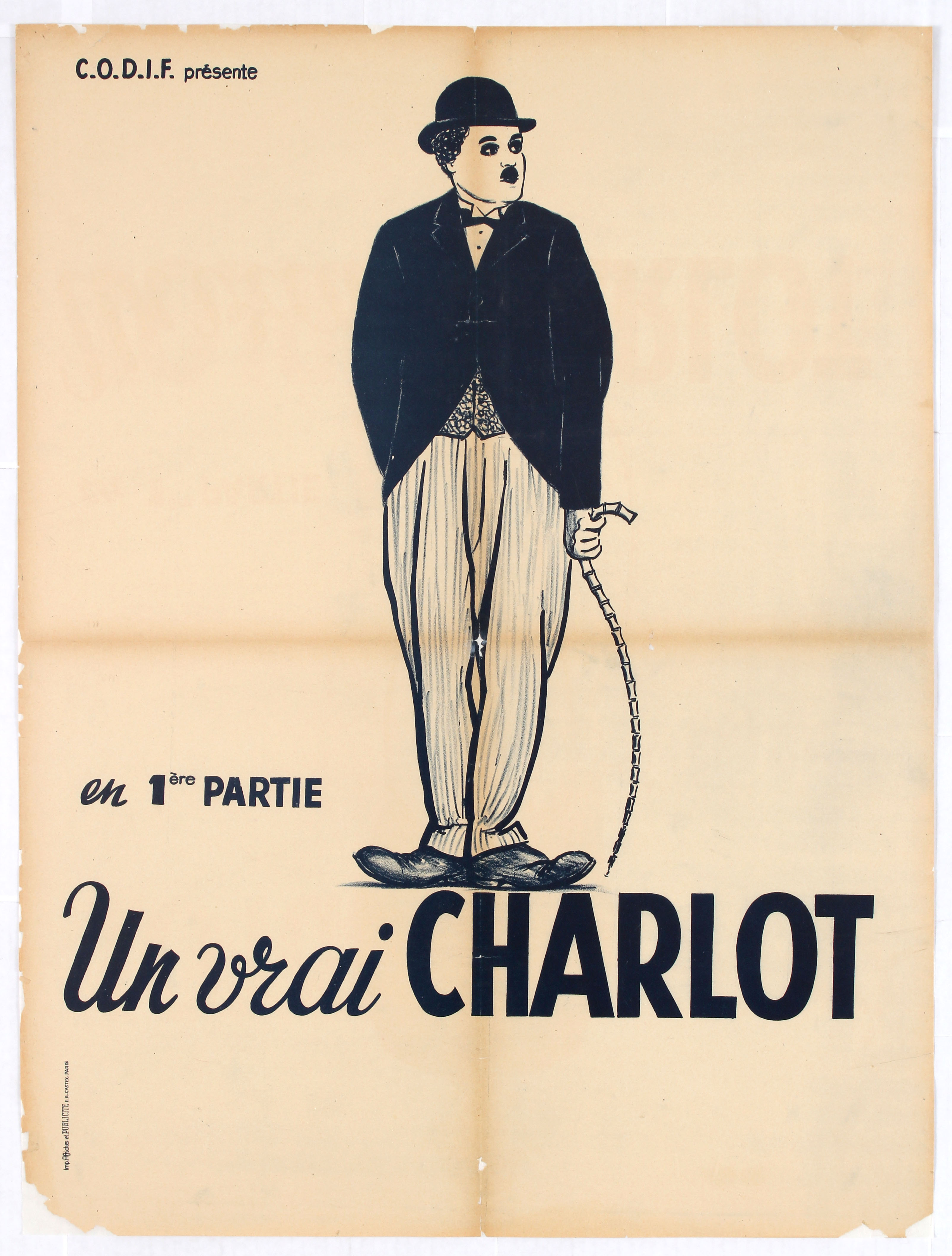 Movie Poster French Film poster Charlie Chaplin