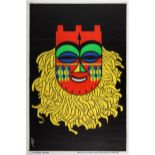 African Mask Advertising Poster