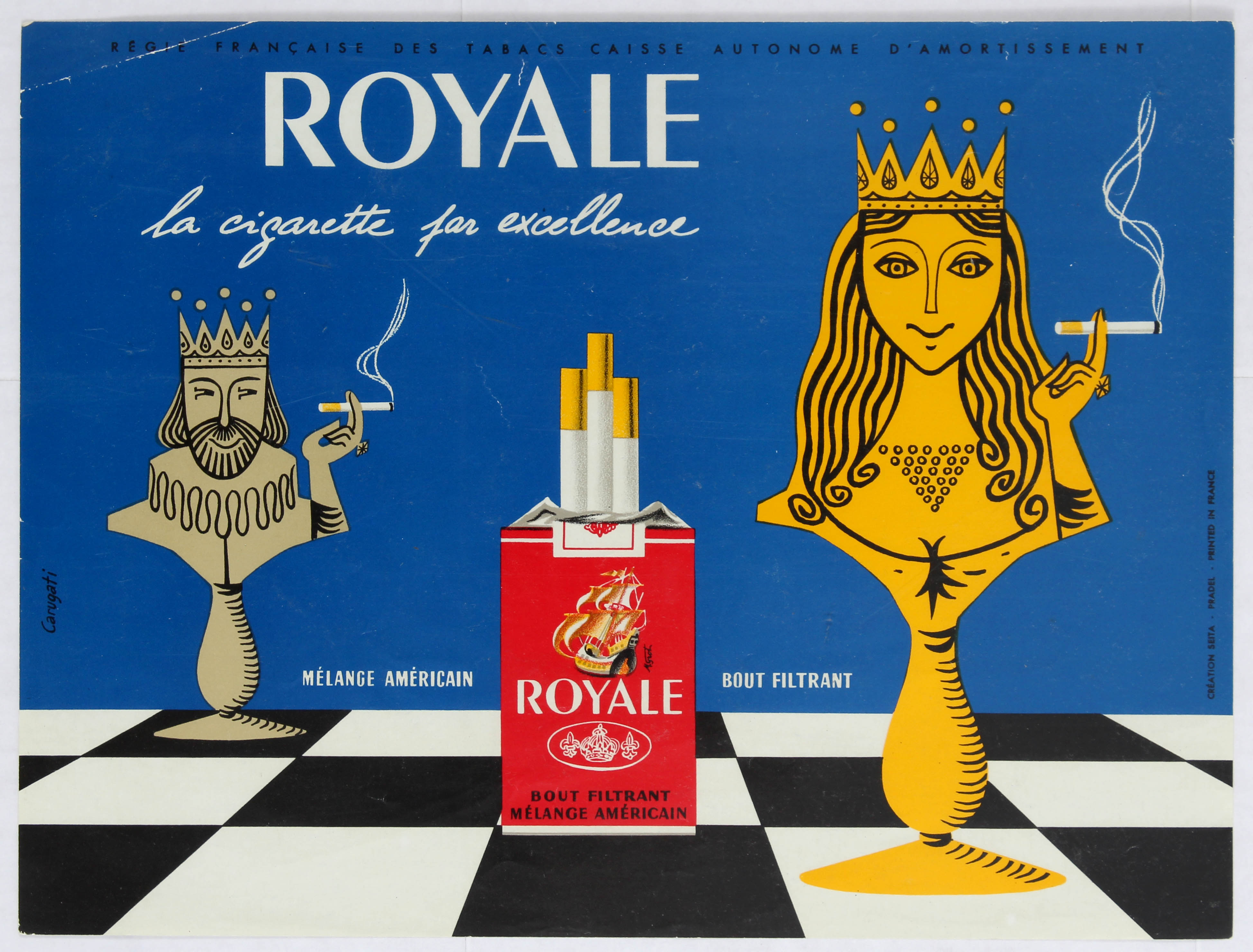 Advertising poster Royale Cigarettes