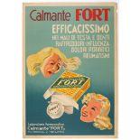 Advertising Poster Painkiller Calmante Forte Italy