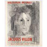 Exhibition Advertising Poster Jacques Villon