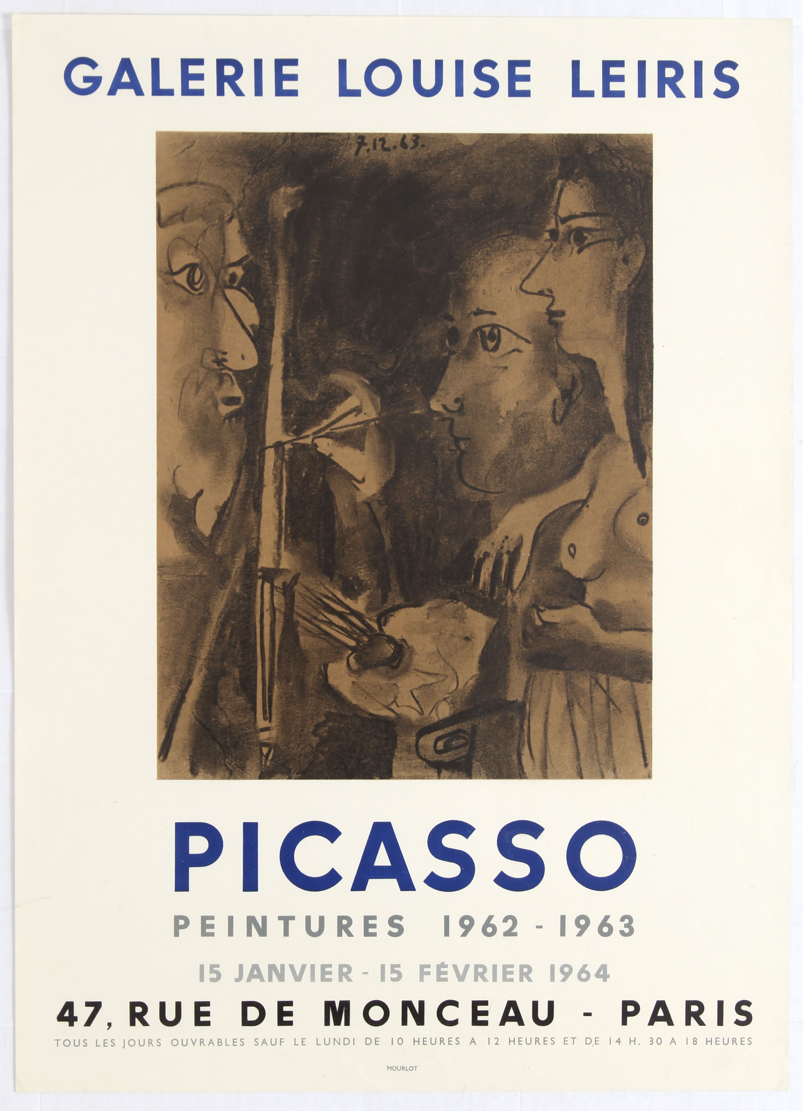 Exhibition Advertising Poster Picasso Paintings