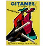 Advertising Poster Gitanes Caporal Cigarettes Georget
