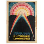 Advertising poster luminous fountains France