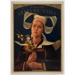 Advertising Poster Lefevre Utile Biscuits Berteaux