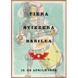 Advertising Poster Basel Swiss Fair 1952