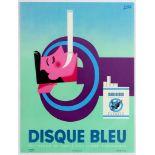 Advertising Poster Gauloise Disque bleu