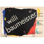 Exhibition Advertising Poster Willi Baumeister Silkscreen