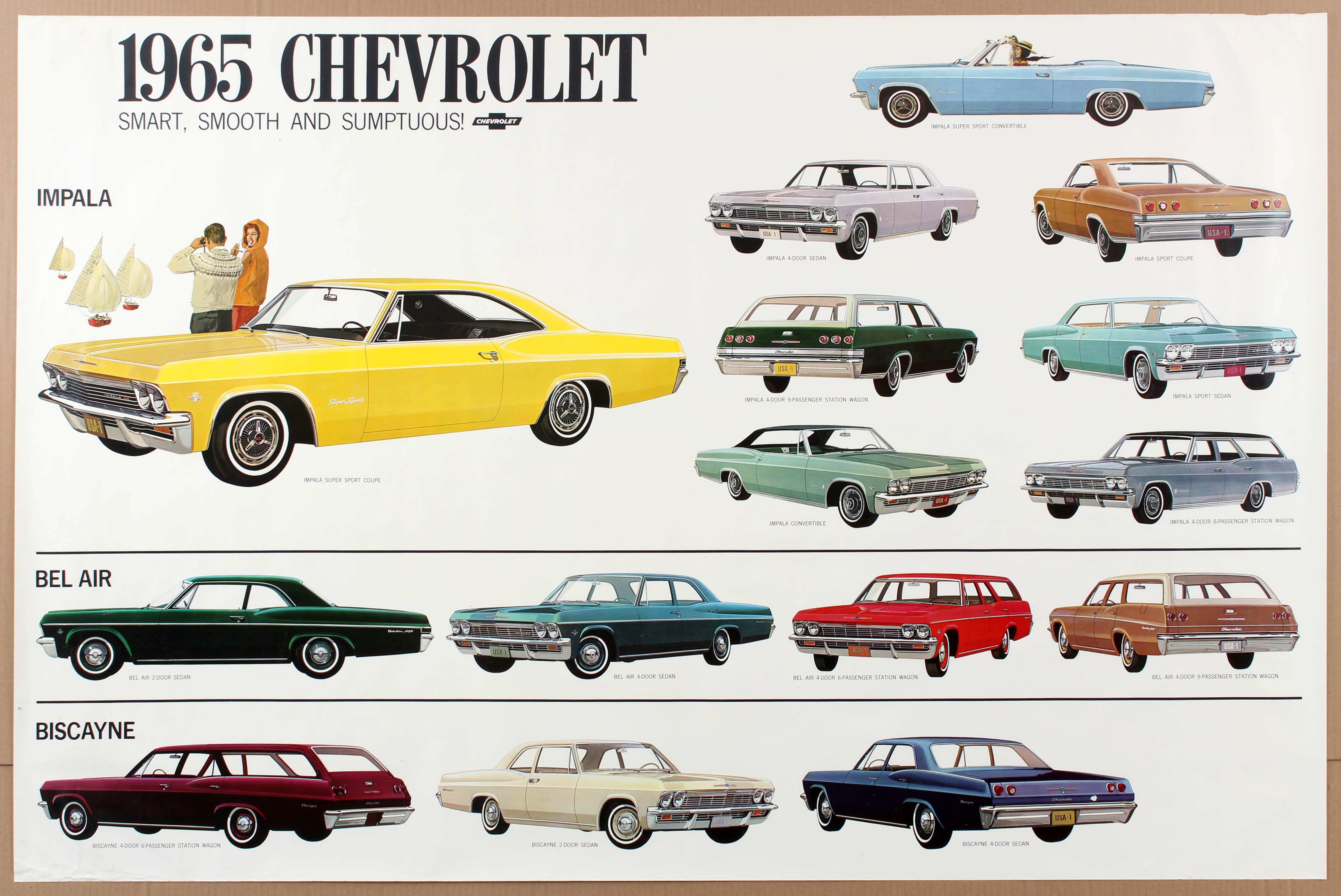 Advertising Poster 1965 Chevrolet Car Impala Bel Air