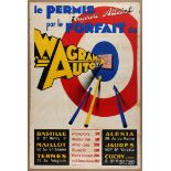 Advertising Poster Wagram Auto Driving School