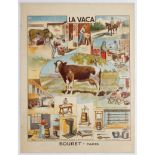 School Learning Spanish Poster Cow