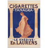 Advertising Poster Cigarettes Tanagra France
