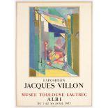 Exhibition Advertising Poster Jacques Villon Albi 1955