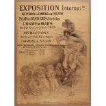 Advertising Poster International Expo Paris 1893 Willette