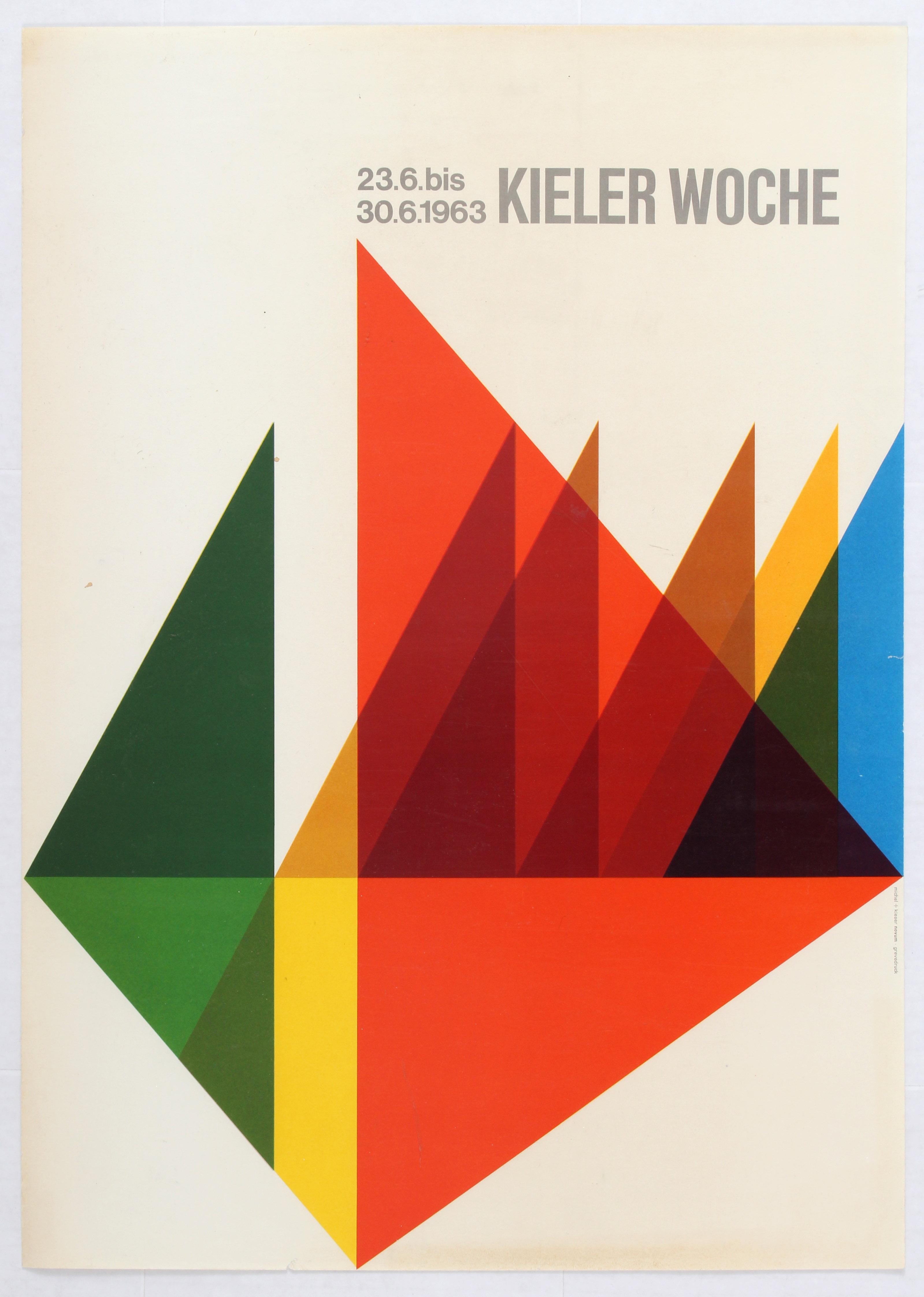 Advertising Poster Sailing Kieler Woche 1963
