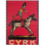 Advertising Polish Circus poster – Cyrk, wooden horse