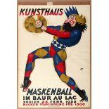 Advertising Poster Maskenball Zurich Carl Moos