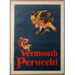 Advertising Poster Vermouth Perucchi