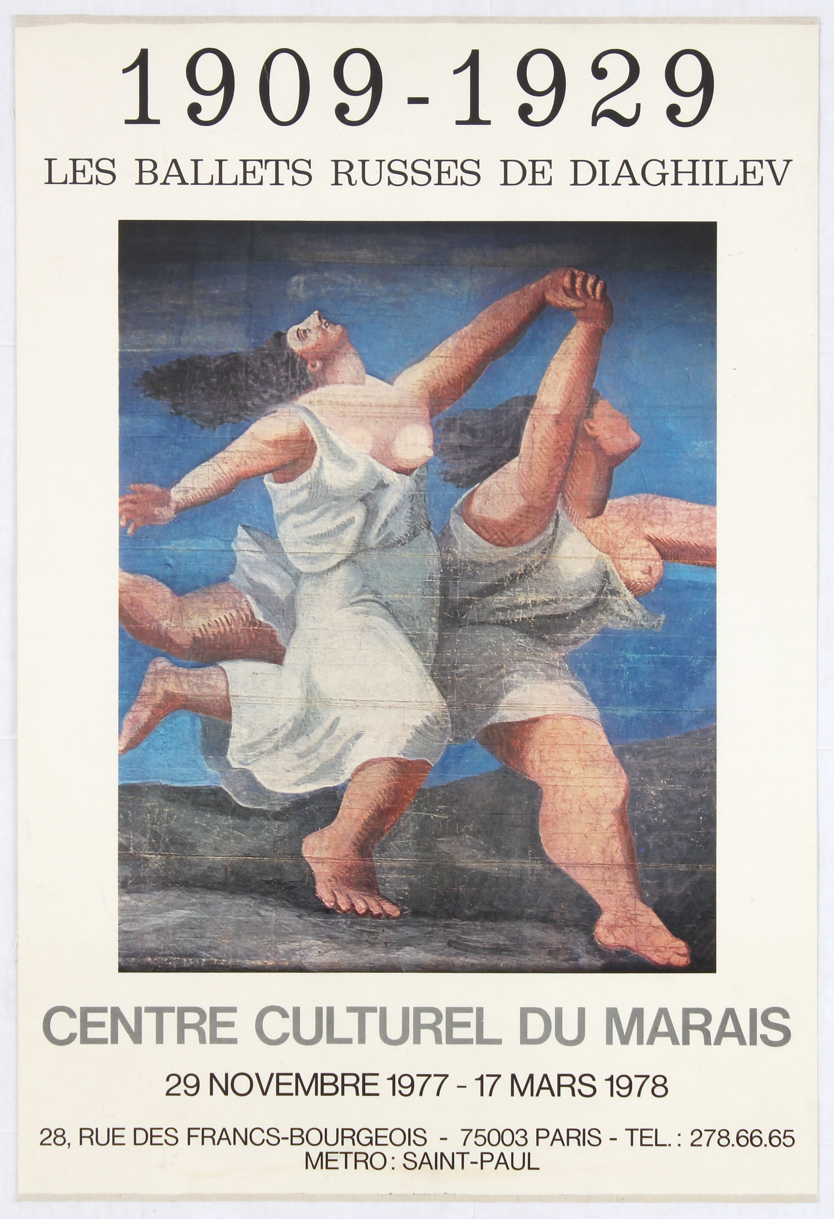 Exhibition Advertising Poster Diaghilev Russian Ballets
