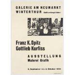 Exhibition Advertising Poster Franz K. Opitz