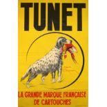 Advertising Poster Tunet Gun Cartridges Hunting Dog France