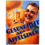 Advertising Poster Health with Oranges Germany