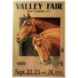 Advertising Posters Valley Fair, Horses, 1914