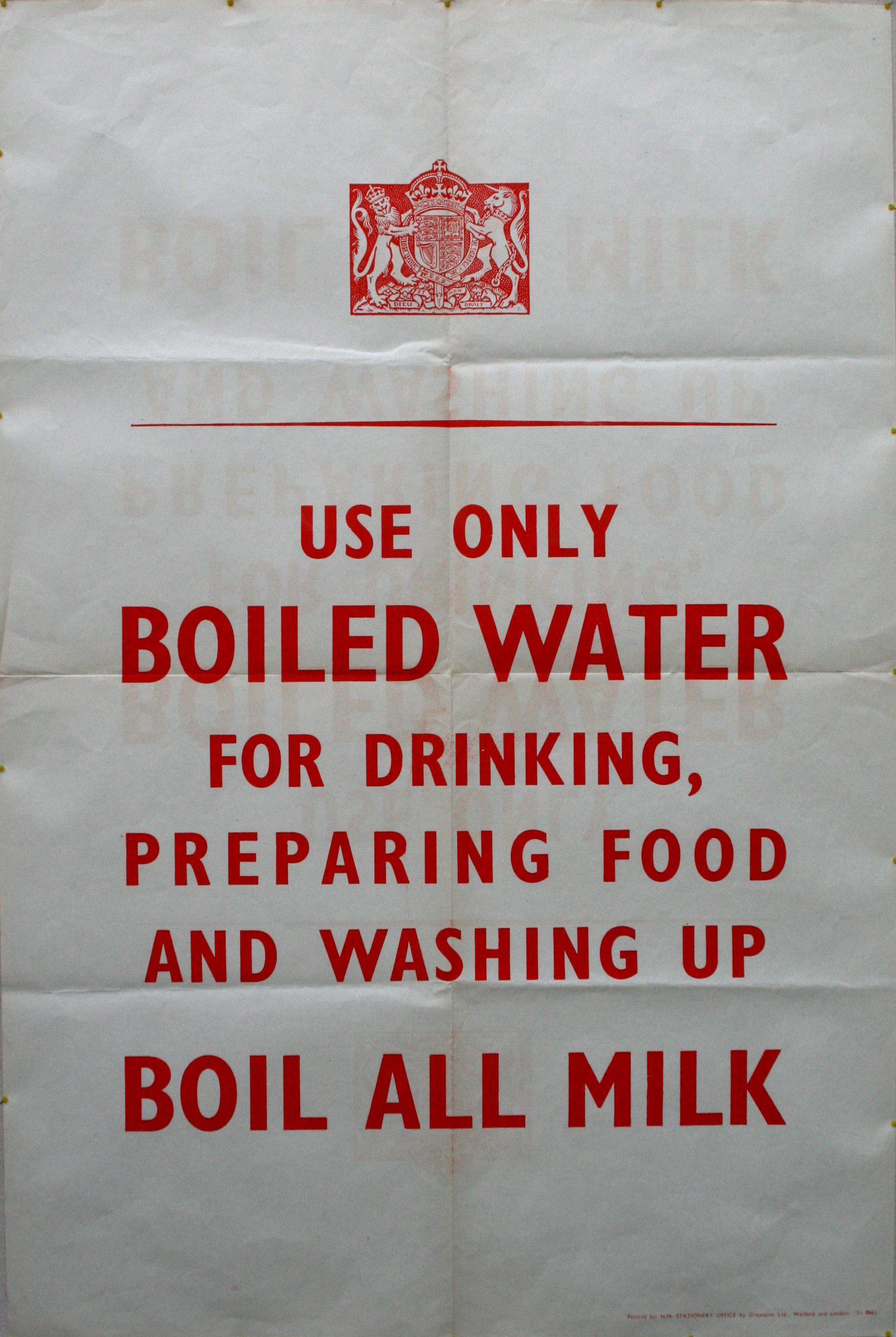 Use Boiled Water WWII Home Front War poster