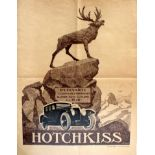 Advertising Poster Hotchkiss Car Art Deco