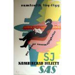 Advertising Posters SAS Swedish Railways