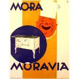 Advertising Poster Mora Moravia Cooking Stove Aga