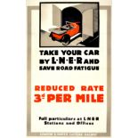 Advertising Poster LNER Railway Take Your Car by Train