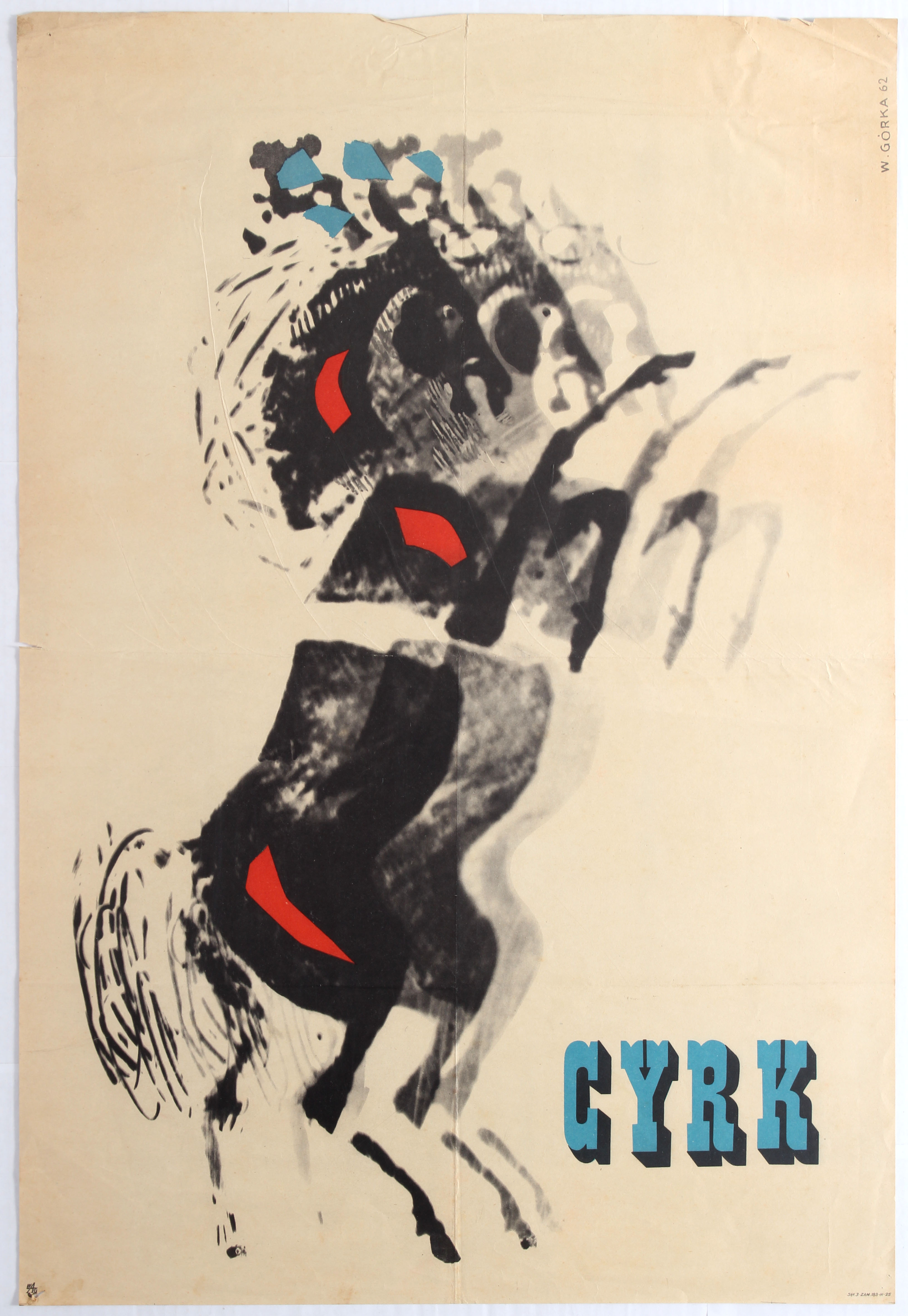 Advertising Poster Cyrk Poland Horses