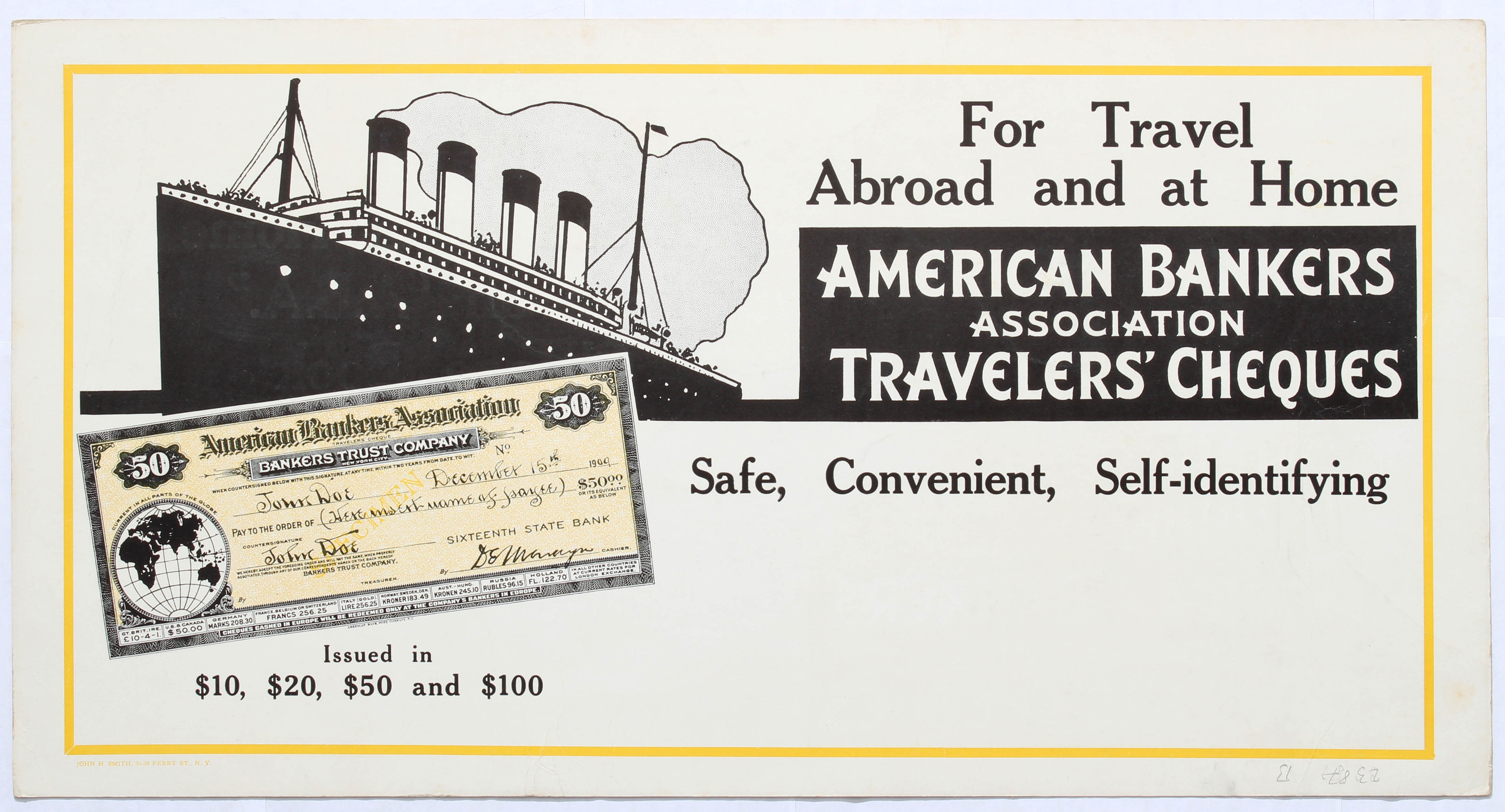 Advertising Poster American Bankers Association - Image 2 of 2