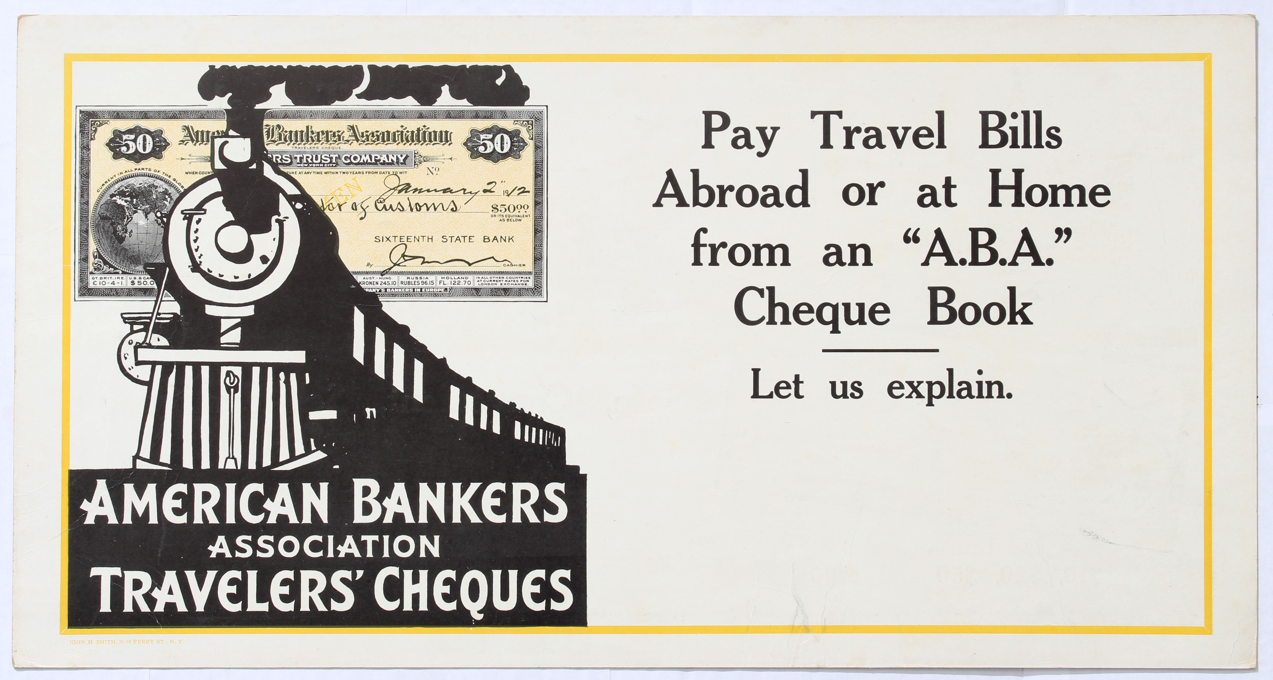 Advertising Poster American Bankers Association