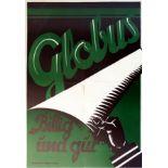 Advertising Poster Globus Modernist Art Deco