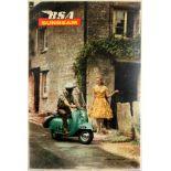 Advertising Poster BSA Sunbeam Scooter