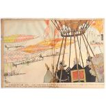 Advertising Poster Zeppelin Early Aviation