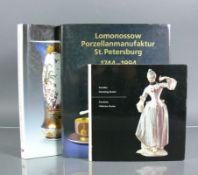 3 div. PorzellanbücherMeisterwerke aus der Sammlung Kocher; Lomonossow Porzellanmanufaktur St.